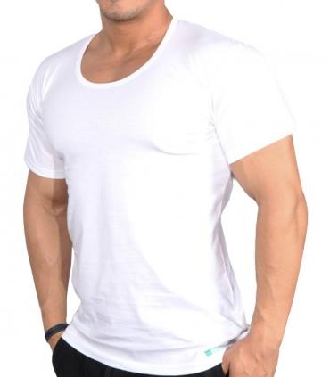 زیرپوش نخی نیم آستین یقه گرد نیکو تن پوش کد 1050 سفید