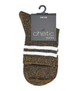 جوراب Chetic چتیک لمهای طلایی خط سفید