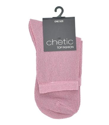 جوراب Chetic چتیک لمهای صورتی ساده