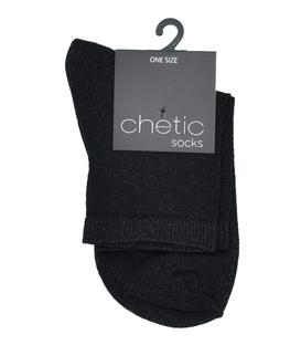 جوراب Chetic چتیک لمهای مشکی ساده کمبرق