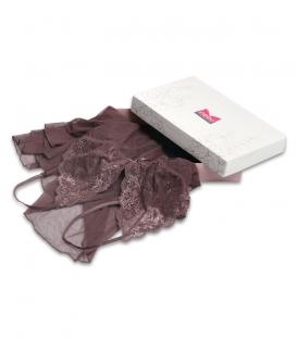 لباس خواب دانتل Neev نیو کد 4057 قهوهای