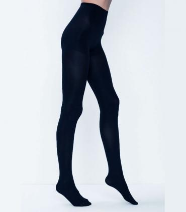 جوراب شلواری Penti پنتی طرح Mikro سه بعدی ضخیم براق ضخامت 100 سرمهای Navy