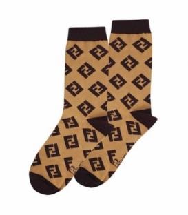 جوراب ساقدار نانو پاتریس طرح فندی قهوهای
