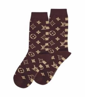 جوراب ساقدار نانو پاتریس طرح لویی ویتون قهوهای