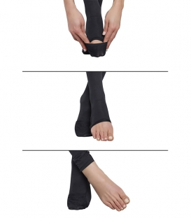 جوراب شلواری Penti پنتی مدل Pratik پنجه باز و بسته متوسط مات ضخامت 70 مشکی