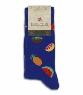 جوراب نانو ساقدار پاآرا طرح میوه آبی