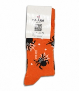 جوراب نانو ساقدار پاآرا طرح عنکبوت نارنجی