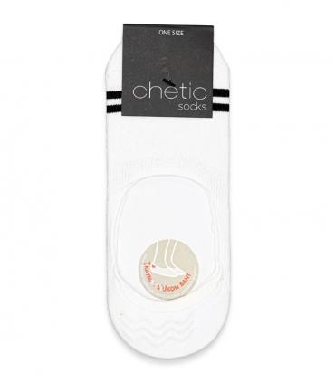 جوراب کالج Chetic چتیک طرح دو خط مشکی سفید