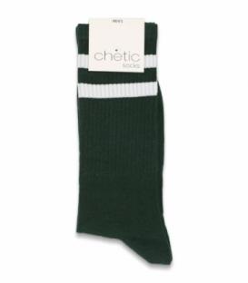 جوراب ساقدار کش انگلیسی Chetic چتیک طرح دو خط سفید سبز