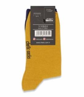 جوراب ساقدار Chetic چتیک طرح فریدا بنفش زرد