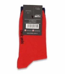 جوراب ساقدار Chetic چتیک طرح فریدا بنفش قرمز