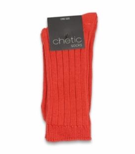 جوراب بافت ساقدار Chetic چتیک ساده قرمز