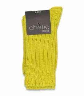 جوراب بافت ساقدار Chetic چتیک ساده زرد