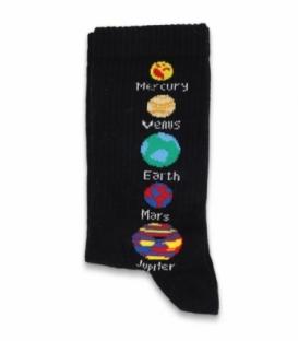 جوراب ساقدار Chetic چتیک طرح منظومه شمسی مشکی