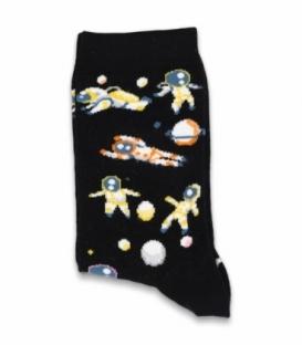 جوراب ساقدار Chetic چتیک طرح فضانورد مشکی