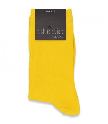 جوراب ساقدار Chetic چتیک ساده زرد
