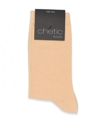 جوراب ساقدار Chetic چتیک ساده گلبهی روشن