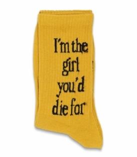 جوراب ساقدار Chetic چتیک طرح دختری که براش میمیری پرتقالی
