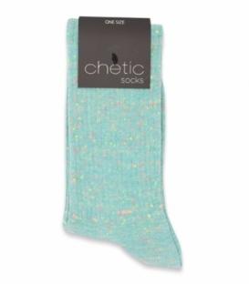 جوراب ساقدار کش انگلیسی Chetic چتیک طرح برفک رنگی سبزآبی
