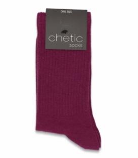 جوراب ساقدار کش انگلیسی Chetic چتیک ساده ارغوانی