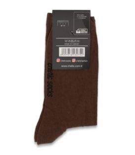 جوراب ساقدار کش انگلیسی Chetic چتیک ساده قهوهای