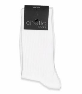 جوراب ساقدار کش انگلیسی Chetic چتیک ساده سفید