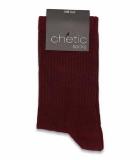 جوراب ساقدار کش انگلیسی Chetic چتیک ساده زرشکی