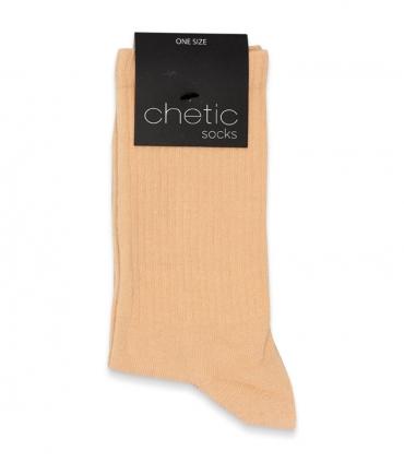 جوراب ساقدار کش انگلیسی Chetic چتیک ساده کرم