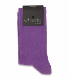 جوراب ساقدار کش انگلیسی Chetic چتیک ساده بنفش