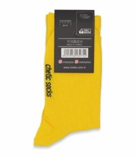 جوراب ساقدار کش انگلیسی Chetic چتیک ساده زرد
