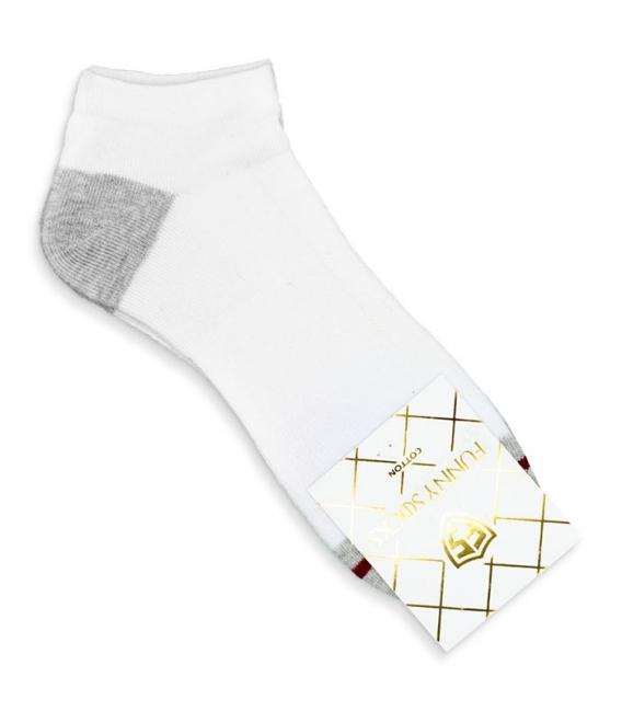 جوراب کف حولهای مچی کد 8000 سفید خاکستری