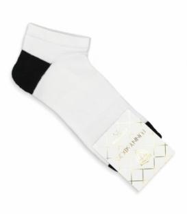 جوراب کف حولهای مچی کد 8002 سفید مشکی