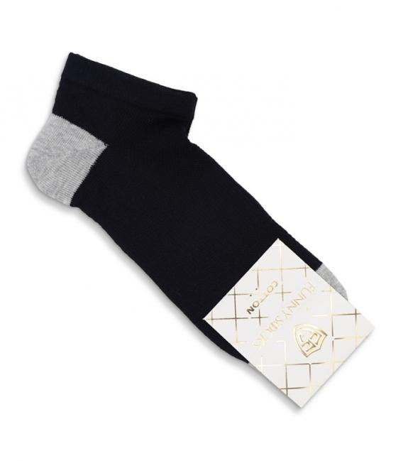 جوراب کف حولهای مچی کد 8002 مشکی خاکستری روشن