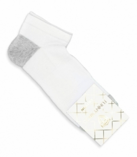 جوراب کف حولهای مچی کد 8002 سفید خاکستری