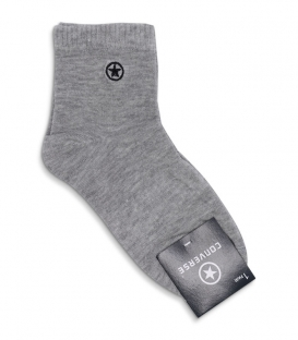 جوراب نیم ساق طرح Converse خاکستری