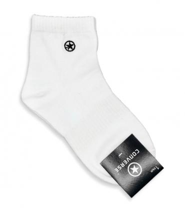 جوراب نیم ساق طرح Converse سفید