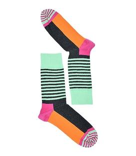 جوراب طرح هپی ساکس Half Stripe