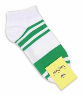 جوراب فانی ساکس مچی طرح دو رنگ سفید سبز کد 624