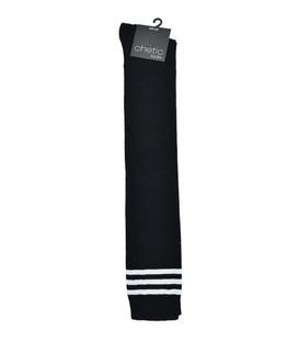 جوراب بالای زانو Chetic مشکی خط دار سفید