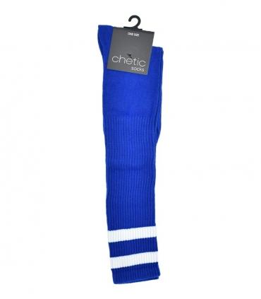 جوراب Chetic چتیک زیر زانو آبی خط دار سفید