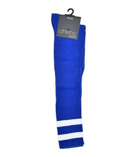 جوراب زیر زانو Chetic آبی خط دار سفید