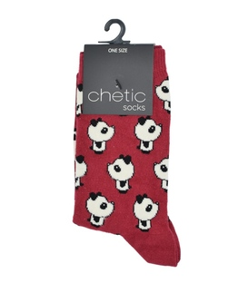 جوراب Chetic چتیک طرح نیمرخ پاندا قرمز