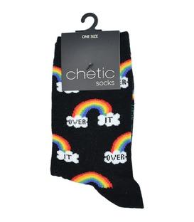 جوراب Chetic چتیک طرح رنگینکمان مشکی