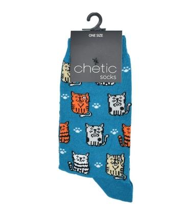 جوراب ساق دار Chetic طرح گربههای مودب