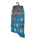 جوراب ساق دار Chetic چتیک طرح گربههای مودب