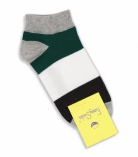 جوراب فانی ساکس مچی طرح چهار رنگ مشکی سفید سبز کد 1003