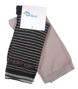 جوراب ساق بلند زنانه لمهای کم برق - ۲ جفت
