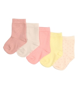 جوراب بچهگانه رنگ روشن - ۵ جفت