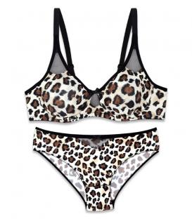 ست شورت و سوتین Neev نیو میکرو فایبر ضد حساسیت کد 2416 پلنگی Leopard