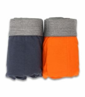 شورت اسلیپ کش اسپورت طرح ترک نیکو تن پوش کد 3154 نارنجی و خاکستری - بسته دو عددی